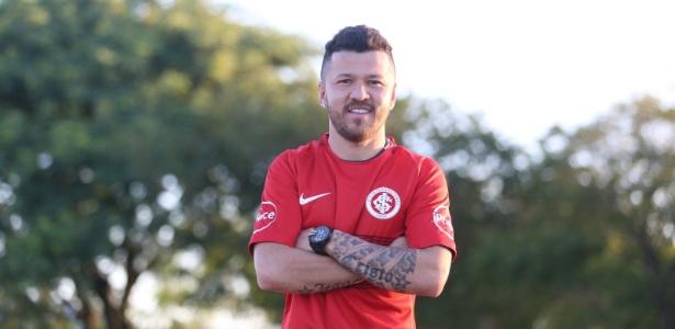 Rossi, atacante do Internacional, em sua apresentação pelo clube gaúcho - Ricardo Duarte/Inter
