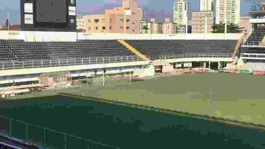 O Santos entra em campo na Vila Belmiro hoje - Reprodução