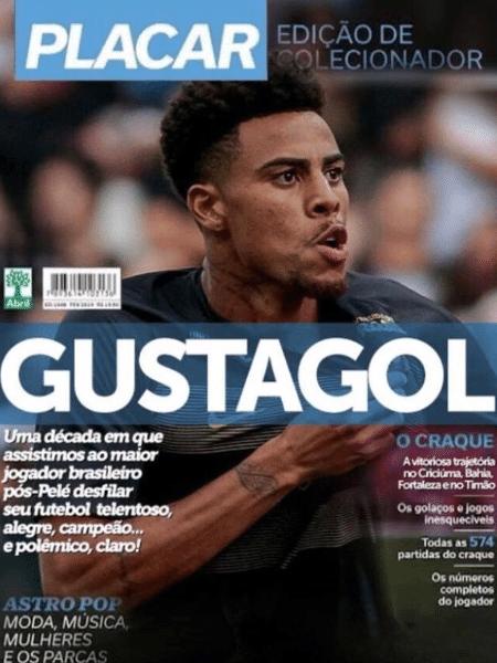 Corinthians recria capa da Placar e coloca Gustagol como maior pós-Pelé - Reprodução/Twitter