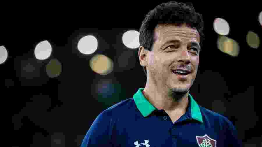 Fernando Diniz celebra vantagem construída pelo Fluminense na Sul-Americana - Lucas Mercon/Fluminense FC