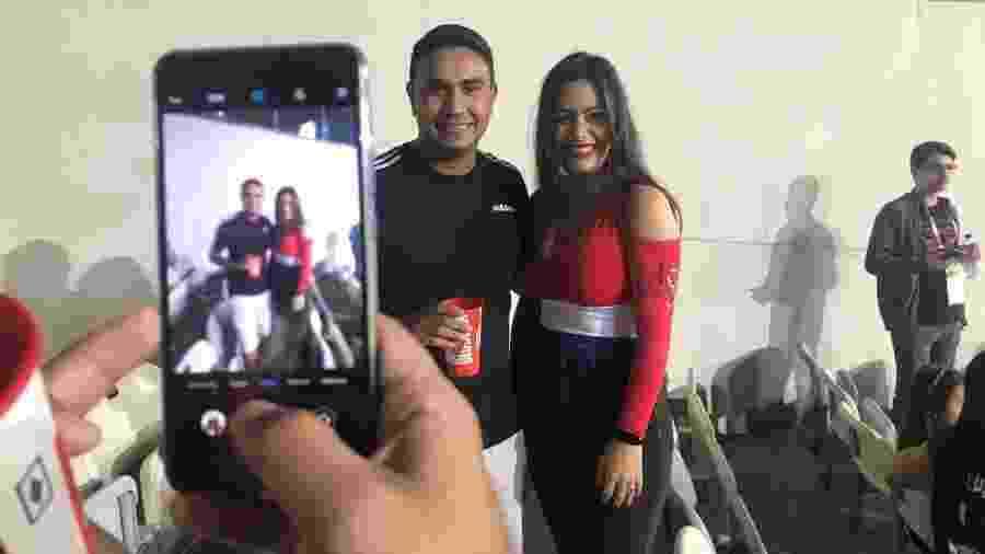 Larissa Riquelme, durante partida entre Paraguai e Argentina - UOL