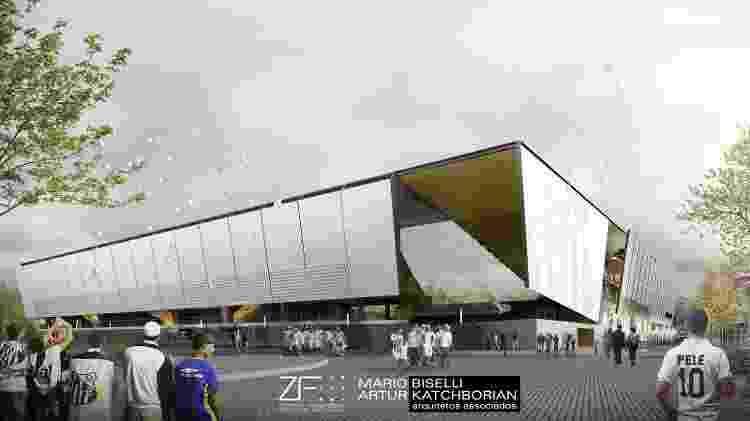 Segunda anel da nova Vila Belmiro teria aberturas na diagonal - Divulgação - Divulgação