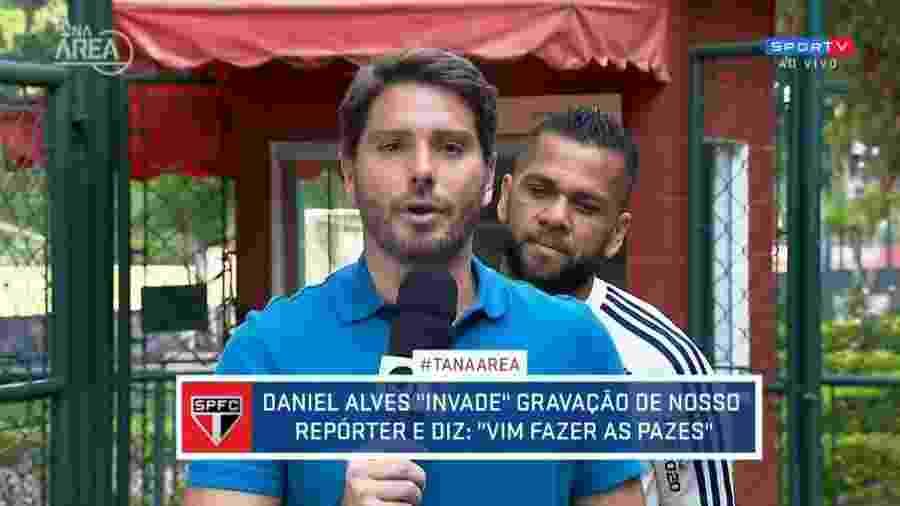 Daniel Alves invade boletim do SporTV - Reprodução/SporTV