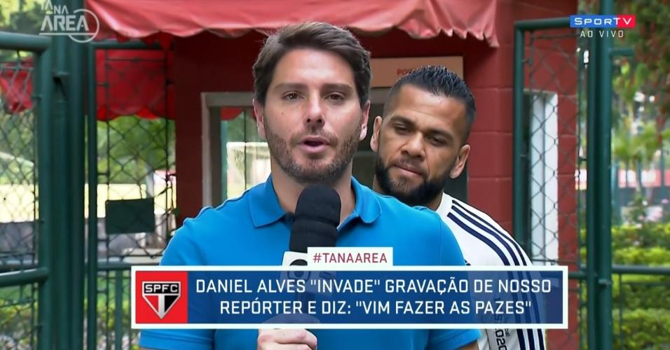 Daniel Alves invade boletim do SporTV