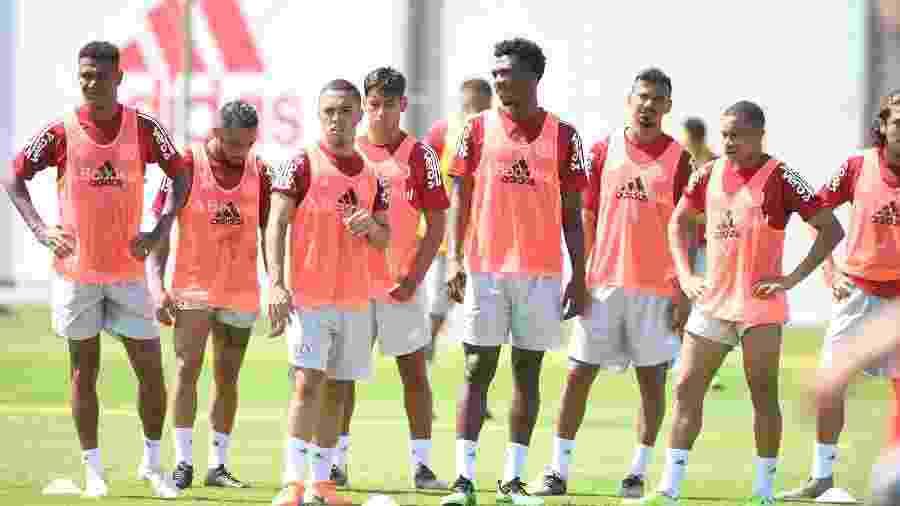Jogadores do Internacional durante treinamento em Porto Alegre - Ricardo Duarte/Inter