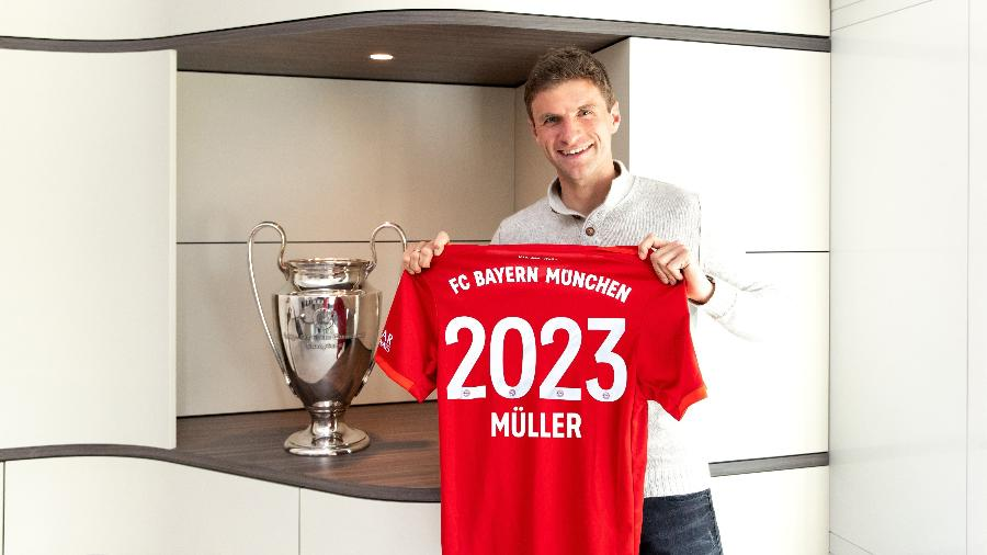 Thomas Muller renova contrato com o Bayern de Munique até 2023; ele estreou na temporada 2008/2009 - Divulgação