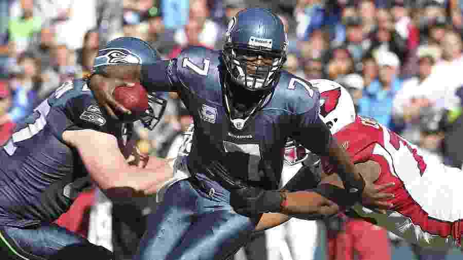Tarvaris Jackson ex-Seattle Seahawks faleceu após acidente automobilístico  - OTTO GREULE JR/AFP