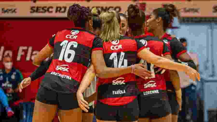 Flamengo campeão carioca de vôlei - Paula Reis/CRF