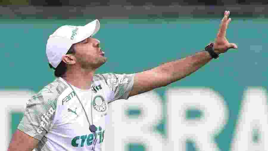 Técnico Abel Ferreira comanda treino do Palmeiras na Academia de Futebol - Cesar Greco/SE Palmeiras