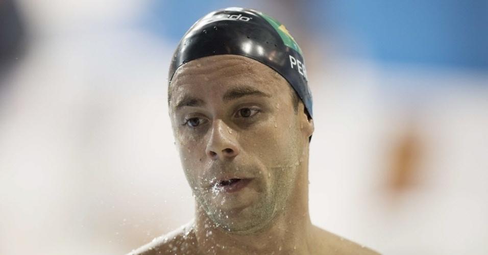 Thiago Pereira lamenta desclassificação na prova dos 400m medley