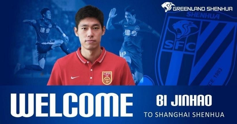 Bi Jinhao, zagueiro contratado pelo Shanghai Greenland