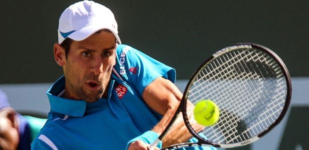Novak Djokovic conseguiu superar o rival Rafael Nadal para garantir vaga na final do torneio - Zhao Hanrong/Xinhua