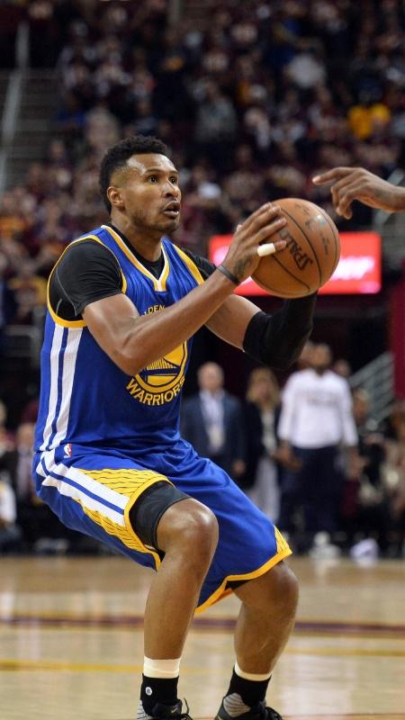 Leandrinho em ação no jogo 3 da final da NBA - Ken Blaze / USA Today Sports