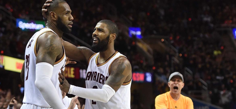 LeBron James e Kyrie Irving foram os nomes do Cleveland Cavaliers - Ken Blaze/USA TODAY Sports