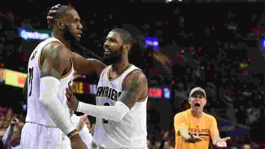 LeBron James e Kyrie Irving foram os nomes do Cleveland Cavaliers - Ken Blaze/USA TODAY Sports