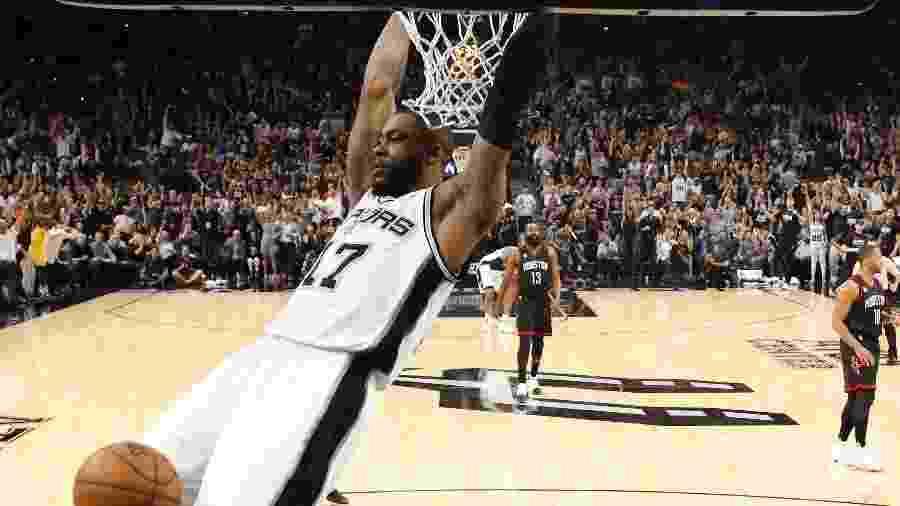 Jonathon Simmons em ação pelo San Antonio Spurs na última temporada - Soobum Im/USA TODAY Sports