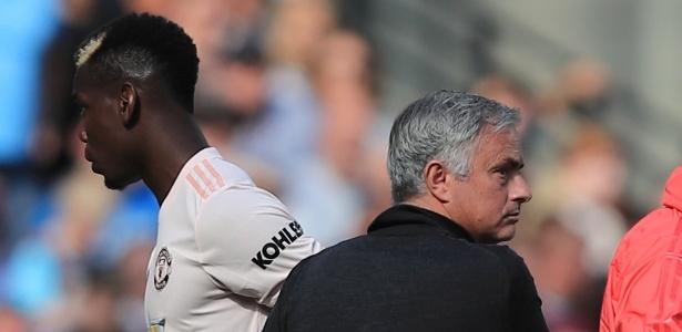 Paul Pogba e José Mourinho protagonizaram conflitos durante a passagem do português pelo United - Getty Images/Marc Atkins