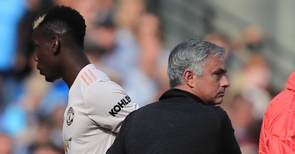 Paul Pogba tem sido substituído nas últimas partidas do United