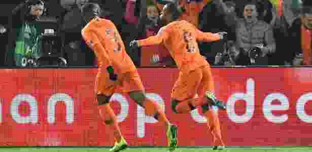Wijnaldum comemora o gol da Holanda, que rebaixa a Alemanha na Liga das Nações - Reuters