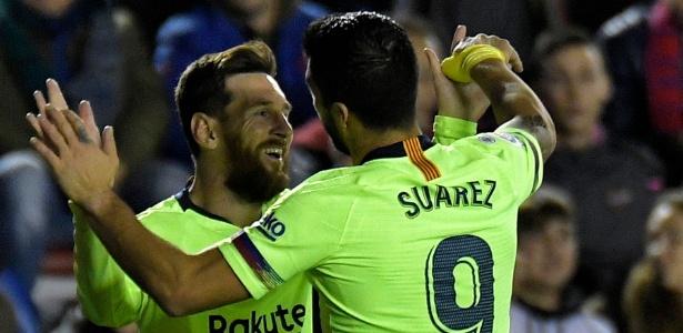 384ff576c5 Messi e Suárez são os principais artilheiros da Liga Espanhola em 2018/2019  Imagem: JOSE JORDAN/AFP