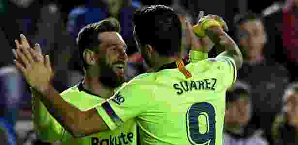 937191ebd9 Messi e Suárez são os principais artilheiros da Liga Espanhola em 2018 2019  Imagem  JOSE JORDAN AFP
