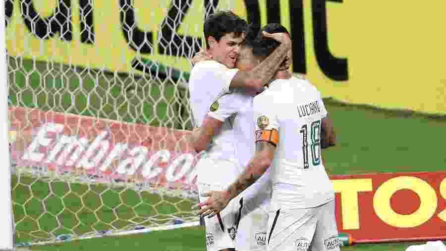 Comemorar gols, nesta temporada, tem sido cena constante para time e torcida do Fluminense - Pedro H. Tesch/AGIF