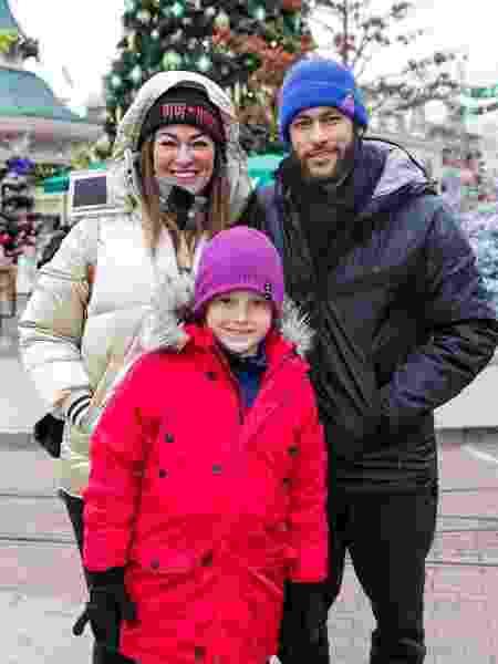 Neymar com a mãe, Nadine, e o filho Davi Lucca - Reprodução/Instagram