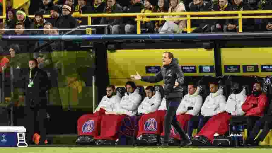 Thomas Tuchel gesticula durante derrota do PSG para o Borussia Dortmund - PressFocus/MB Media