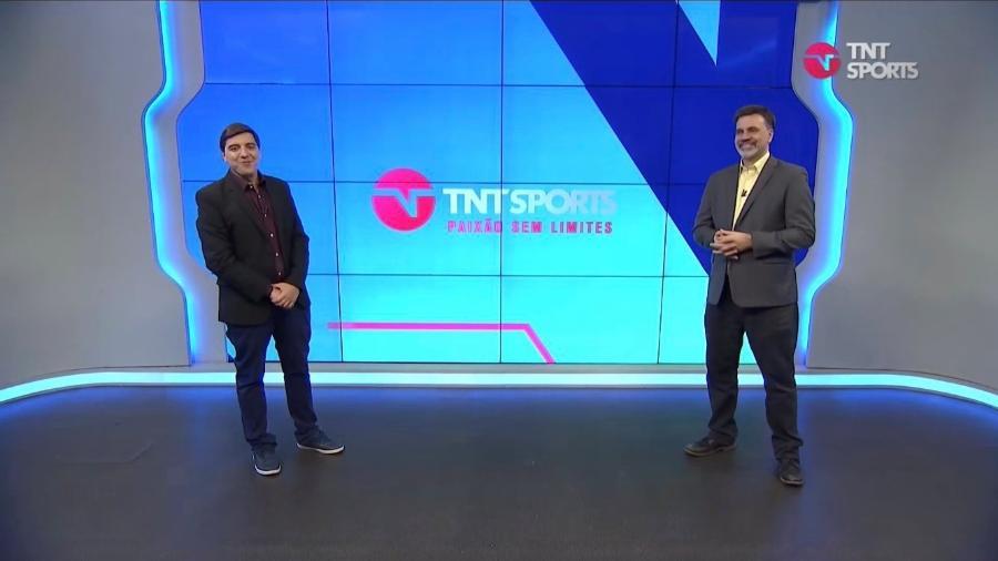 Luiz Felipe Freitas e Mauro Beting na apresentação da TNT Sports - Reprodução/TNT Sports