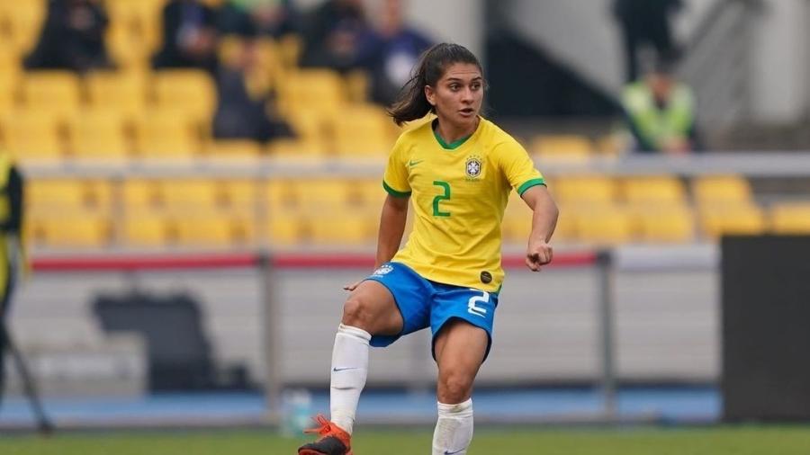 Letícia Santos, lateral do Eintracht Frankfurt, da Alemanha, com passagem pela seleção brasileira - Reprodução Instagram/ Daniela Porcelli