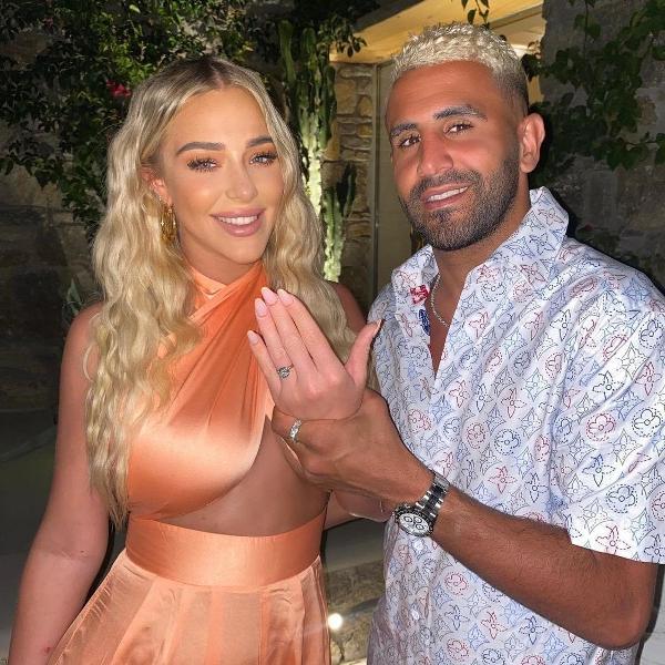 Riyad Mahrez, do Manchester City, e a noiva Taylor Ward