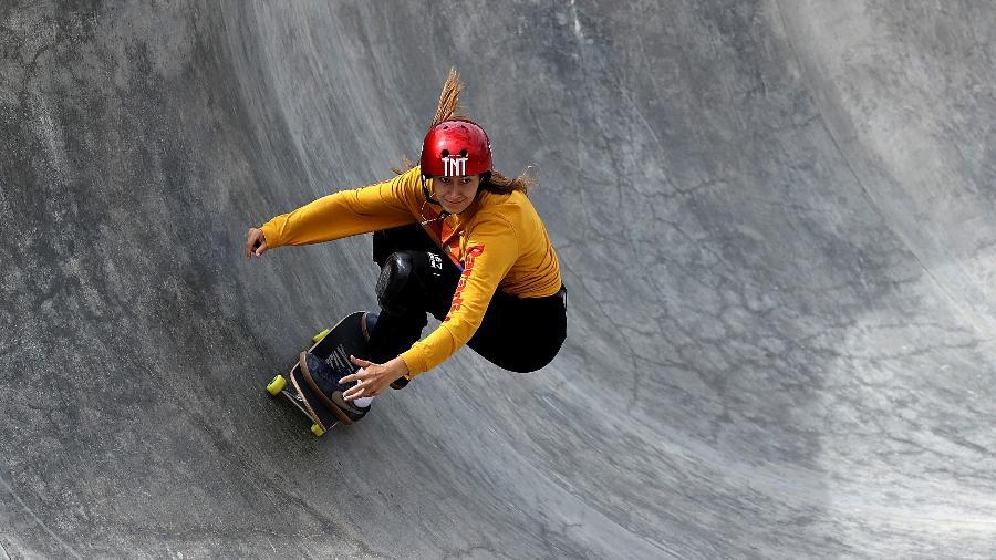 Skatista Dora Varela é uma das representantes do Brasil no skate park da Tóquio-2020 - Sean M. Haffey/Getty Images