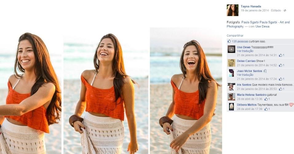 Assim como Gabriel Medina, Tayna Hanada cresceu em Maresias, litoral norte de São Paulo. A moça tem 19 anos