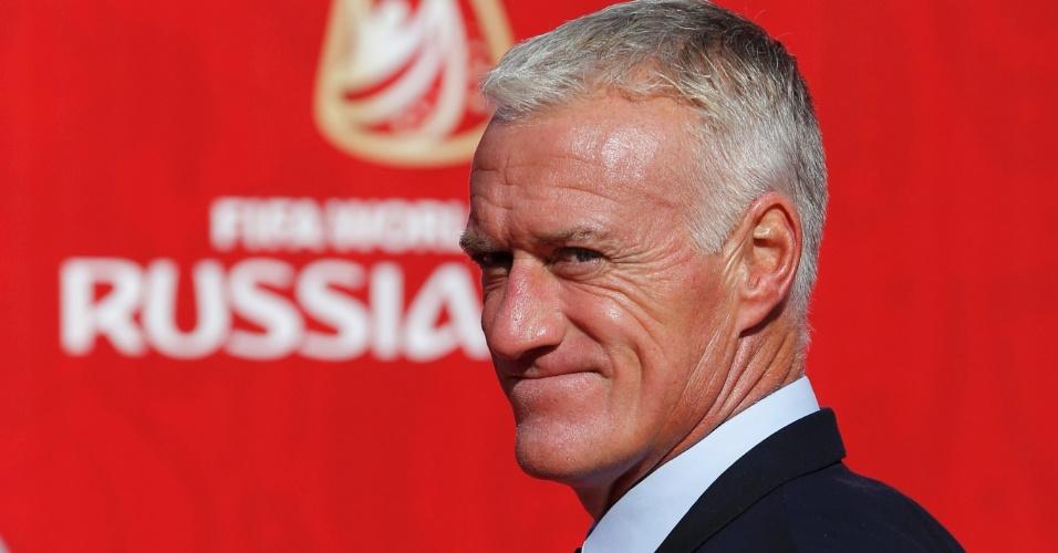 Didier Deschamps, técnico da seleção da França, em evento de sorteio das Eliminatórias para Copa do Mundo de 2018, na Rússia