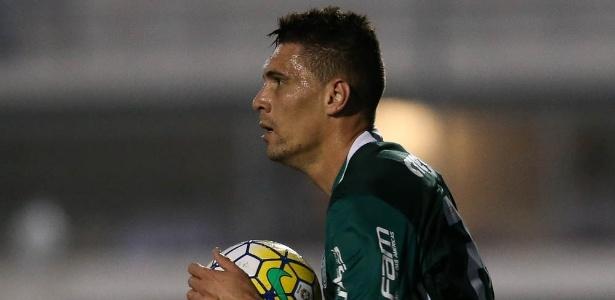 Moisés treinou com bola pela primeira vez desde a lesão muscular adquirida no início do mês - Cesar Greco/Ag Palmeiras