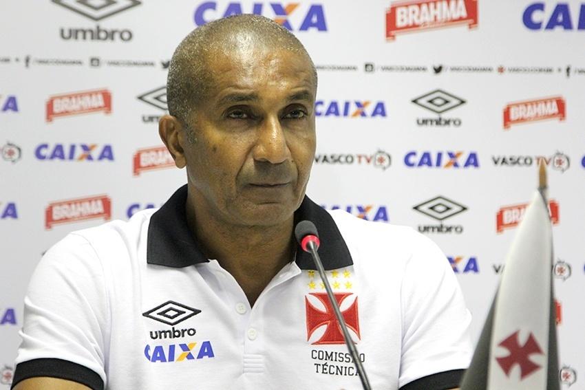 Cristóvão Borges durante entrevista coletiva no Vasco