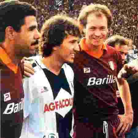Zico e Falcão não teriam ido para Udinese e Roma nos dias de hoje - Reprodução