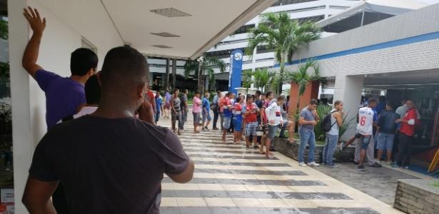 Adesão foi iniciada nesta quarta-feira e já conta com enorme fila - Divulgação/E.C. Bahia