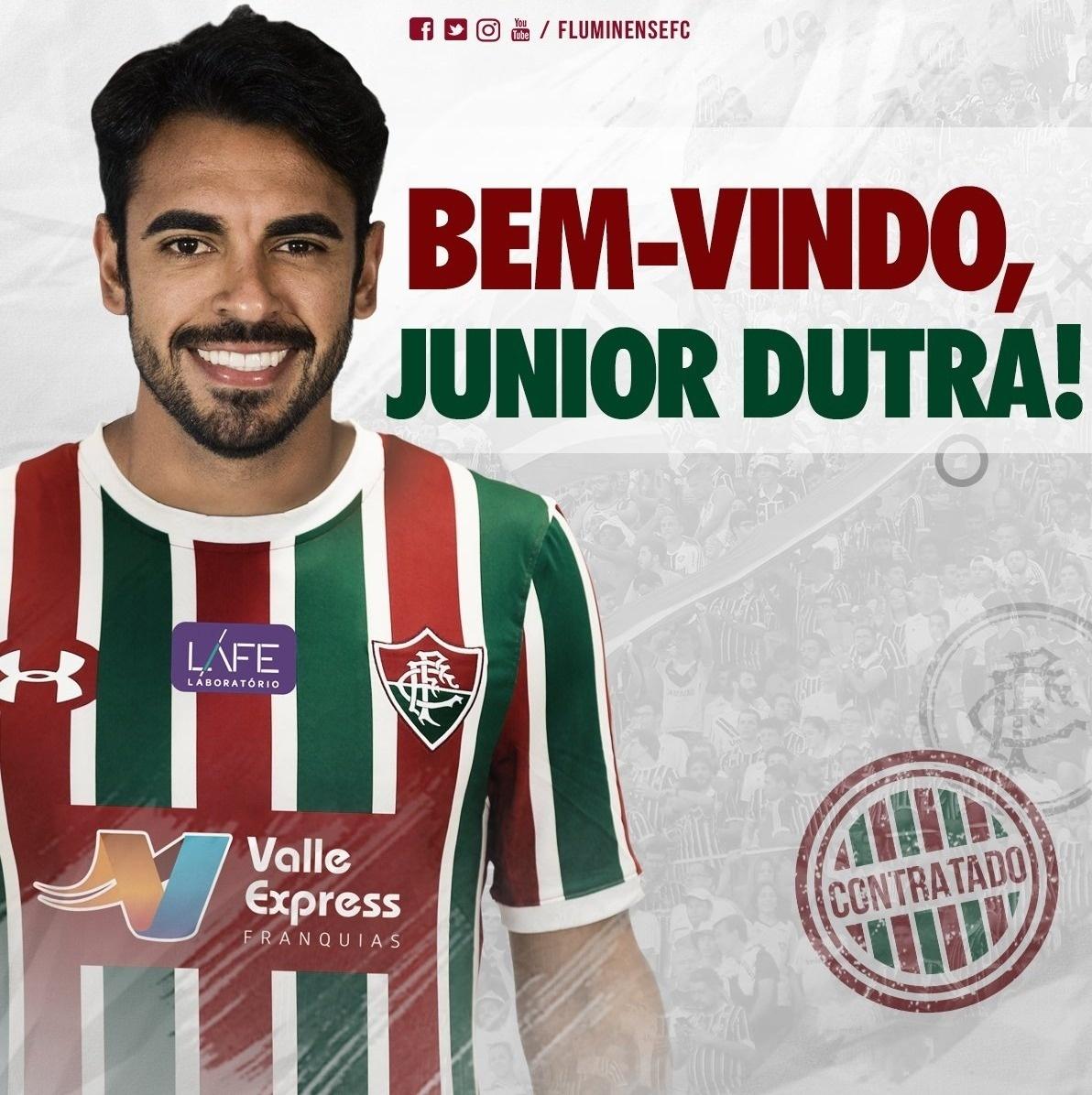 Júnior Dutra é o mais novo reforço do Fluminense até o fim da temporada