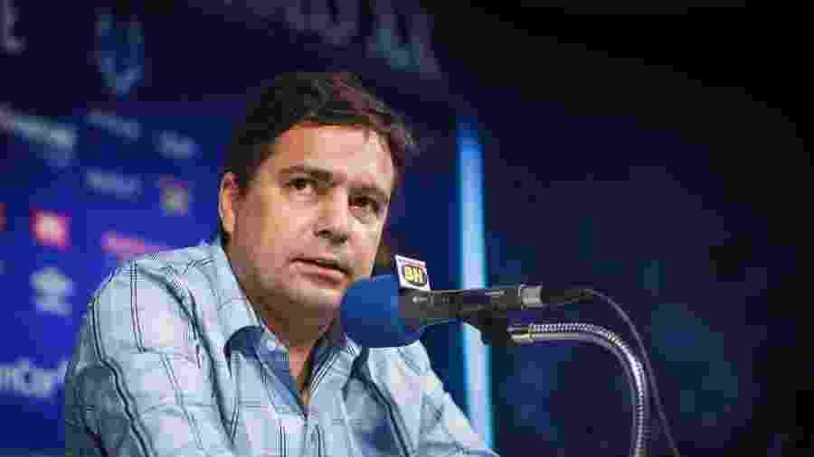 Itair Machado, vice-presidente de futebol do Cruzeiro, em entrevista na Toca da Raposa - Vinnicius Silva/Cruzeiro