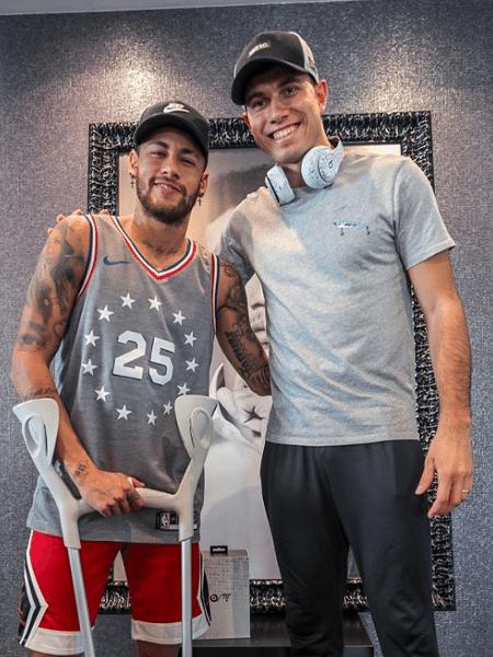 Neymar posta foto com Thiago Braz em Paris - Reprodução/Instagram