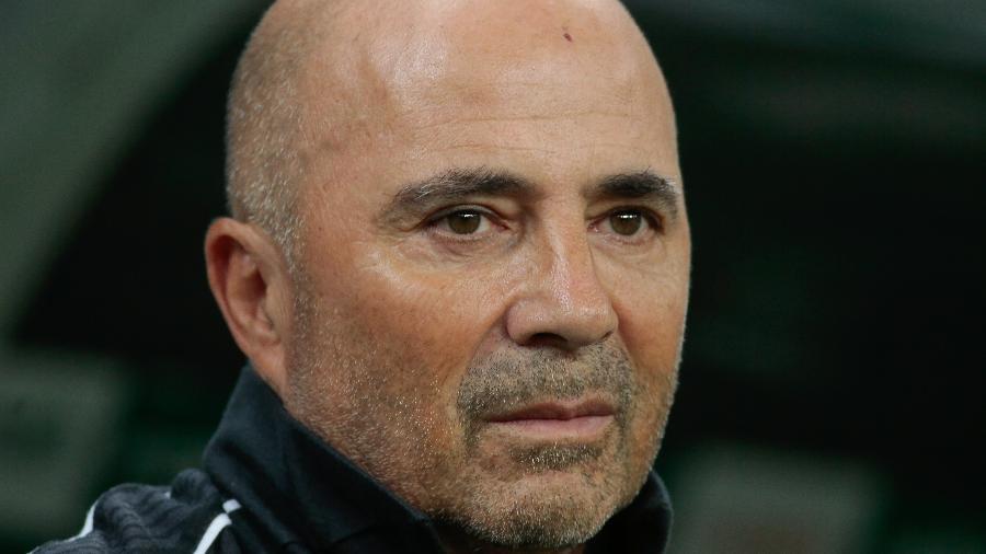 Jorge Sampaoli, técnico do Santos, em jogo contra o Palmeiras - Marcello Zambrana/AGIF