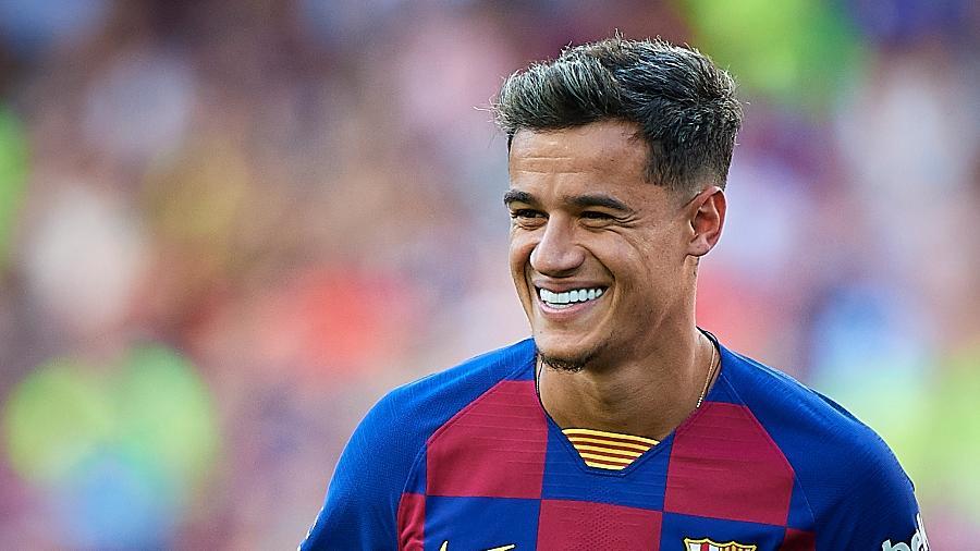 Philippe Coutinho só disputou 23 minutos de um amistoso do Barça contra o Napoli nesta temporada - Pablo Morano/MB Media/Getty Images