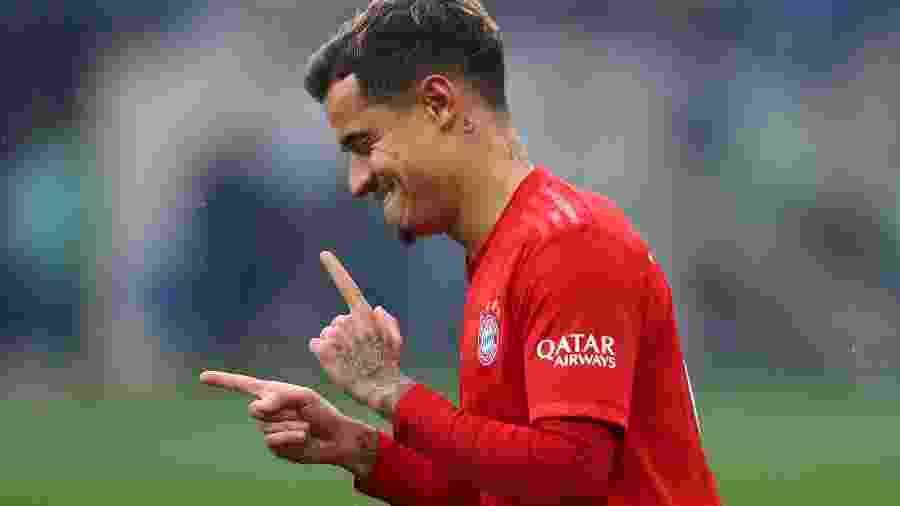 Philippe Coutinho comemora gol pelo Bayern de Munique - Kai Pfaffenbach/Reuters