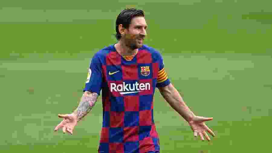 Lionel Messi, do Barcelona, que enfrenta o Villarreal pela 34ª rodada do Campeonato Espanhol - Octavio Passos/Getty Images