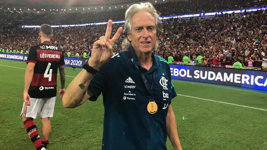 Jorge Jesus garantiu que não pediu nenhum jogador do Flamengo ao Benfica - Alexandre Vidal/Flamengo