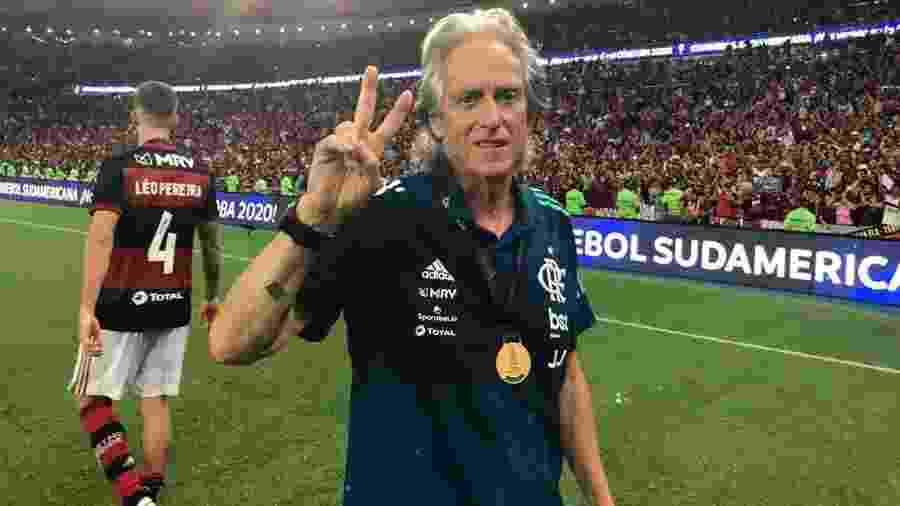 Jorge Jesus, campeão da Libertadores e Brasileiro pelo Flamengo - Alexandre Vidal/Flamengo
