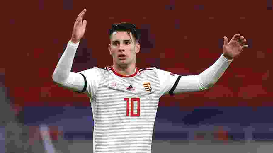 Dominik Szoboszlai, da seleção da Hungria, pode se mudar para a Espanha já no mês que vem - Laszlo Szirtesi - UEFA/UEFA via Getty Images