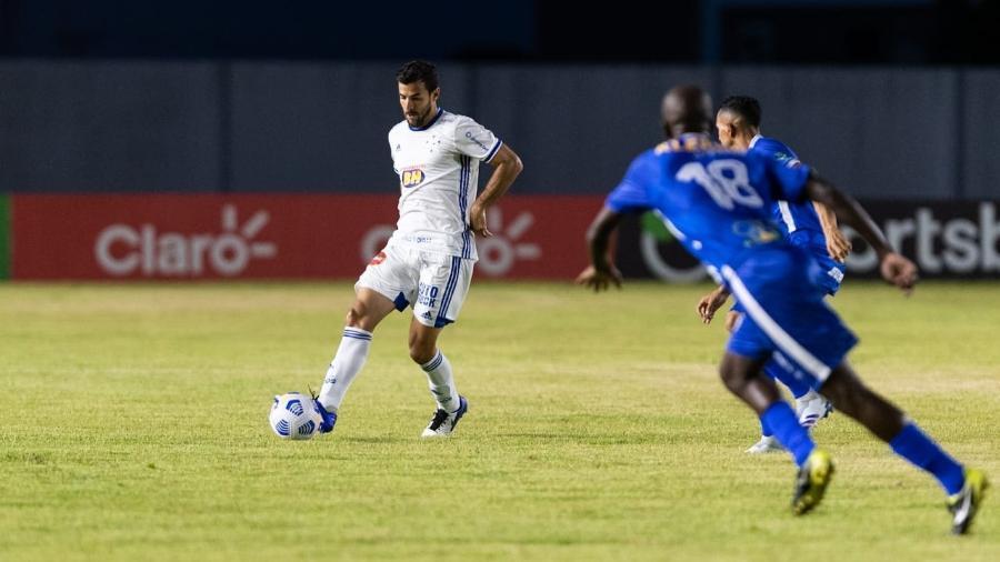 Matheus Barbosa, jogador do Cruzeiro, na partida contra o São Raimundo-RR - Gustavo Aleixo / Cruzeiro
