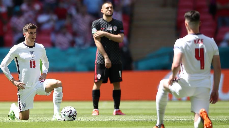 Ao contrário da Inglaterra, jogadores da Croácia não se ajoelham antes das partidas da Euro - Getty Images